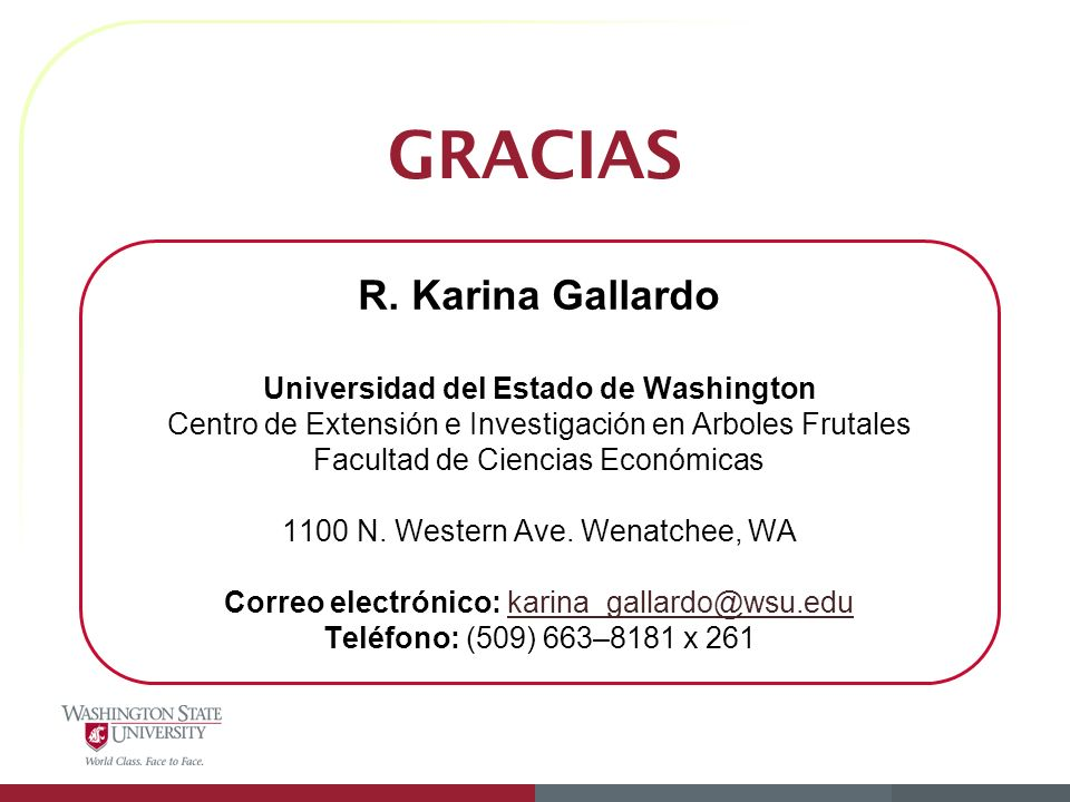 GRACIAS R. Karina Gallardo