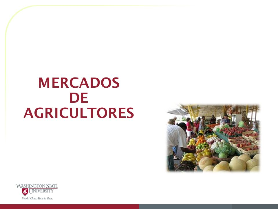 MERCADOS DE AGRICULTORES