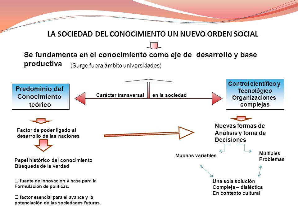 LA SOCIEDAD DEL CONOCIMIENTO UN NUEVO ORDEN SOCIAL
