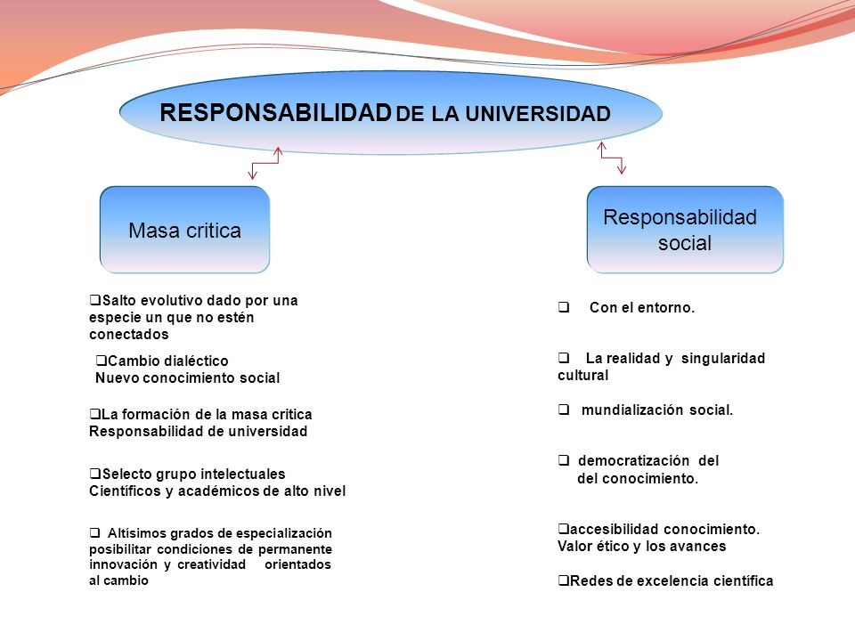 RESPONSABILIDAD DE LA UNIVERSIDAD