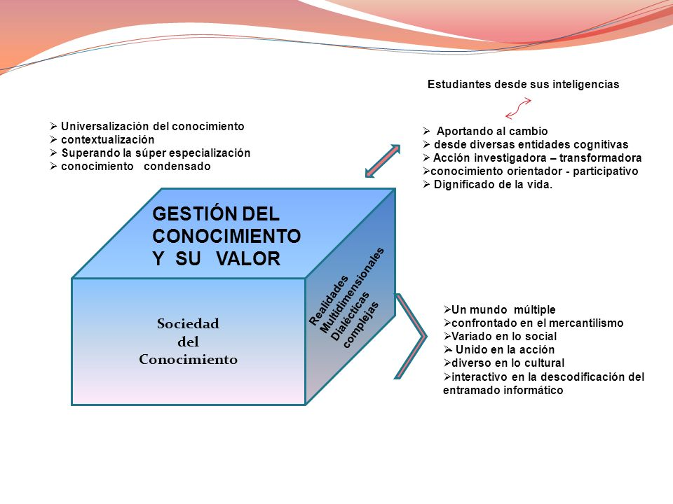 GESTIÓN DEL CONOCIMIENTO Y SU VALOR