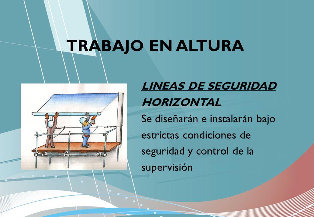 TRABAJO EN ALTURA LINEAS DE SEGURIDAD HORIZONTAL