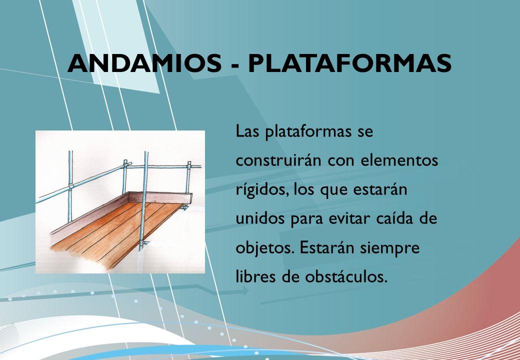 ANDAMIOS - PLATAFORMAS