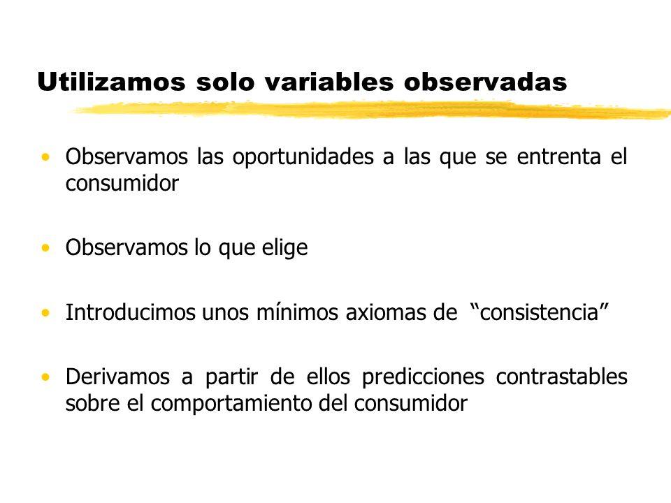 Utilizamos solo variables observadas
