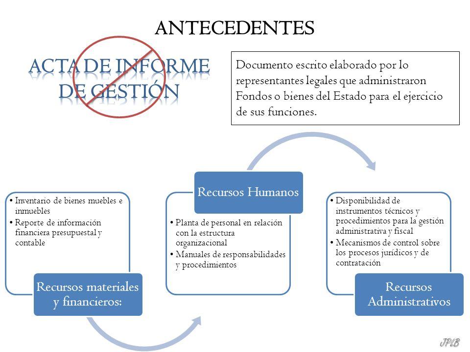 ACTA DE INFORME DE GESTIÓN
