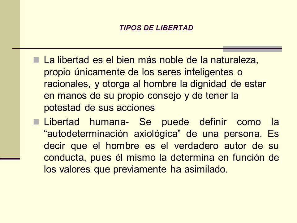 TIPOS DE LIBERTAD