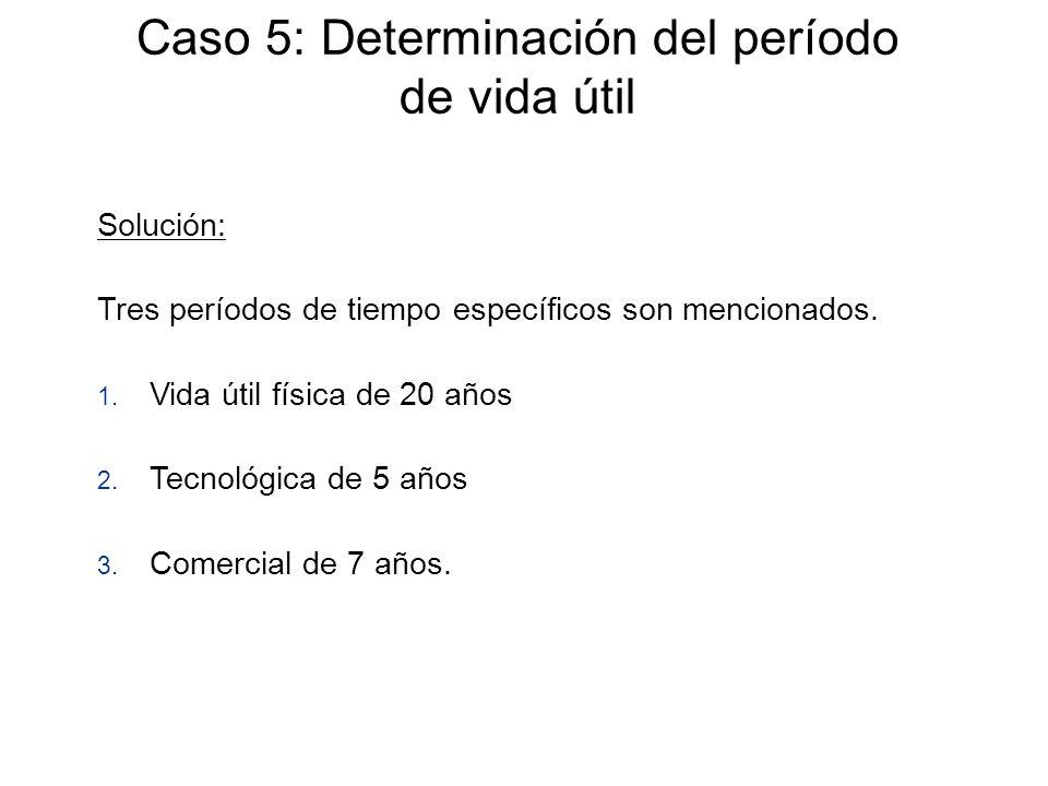 Caso 5: Determinación del período de vida útil