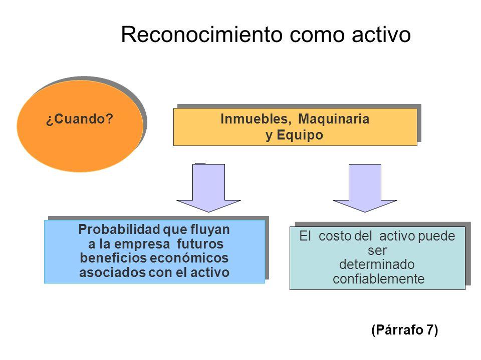 Probabilidad que fluyan beneficios económicos asociados con el activo