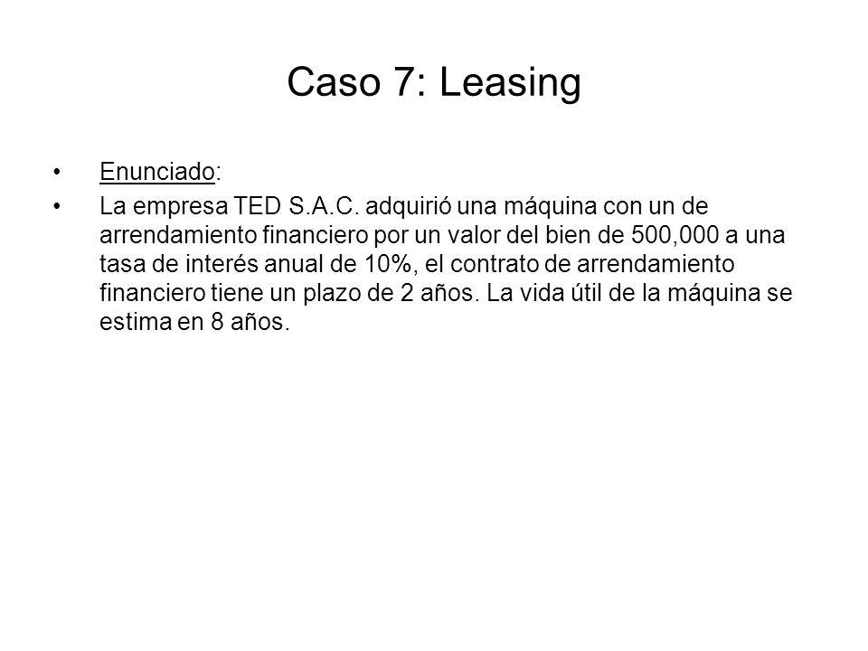 Caso 7: Leasing Enunciado: