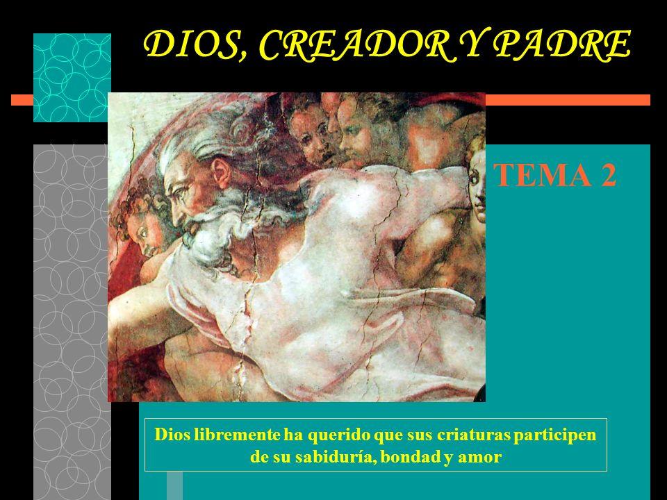 DIOS, CREADOR Y PADRE TEMA 2