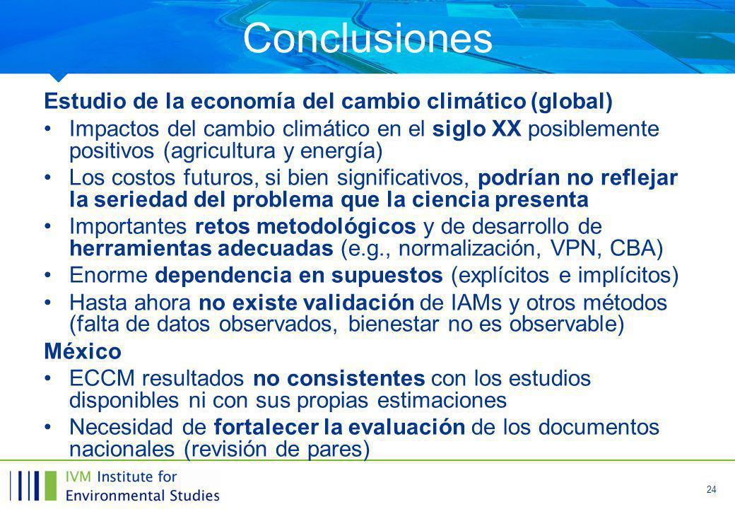 Conclusiones Estudio de la economía del cambio climático (global)