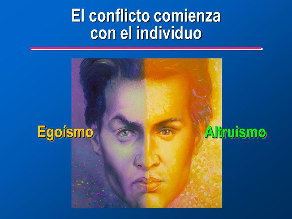 El conflicto comienza con el individuo