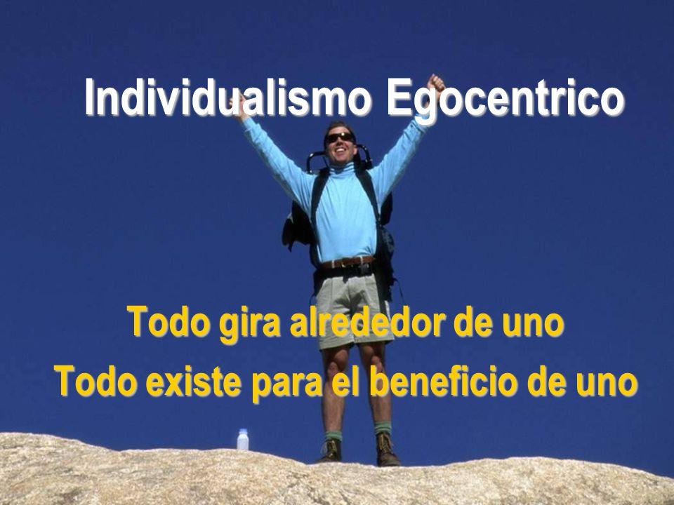 Individualismo Egocentrico