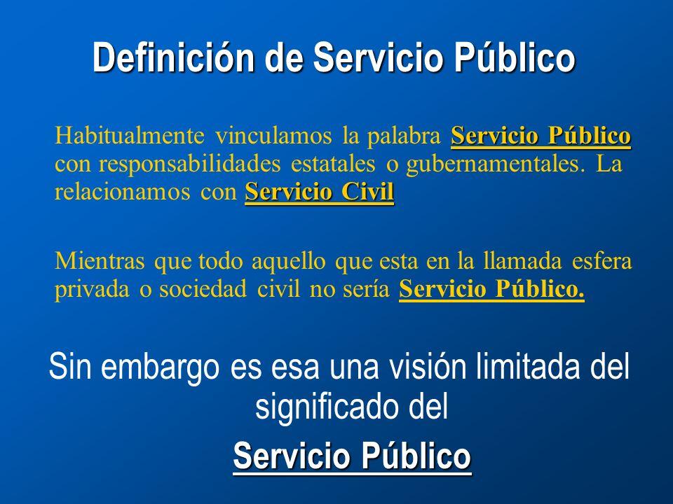 Definición de Servicio Público