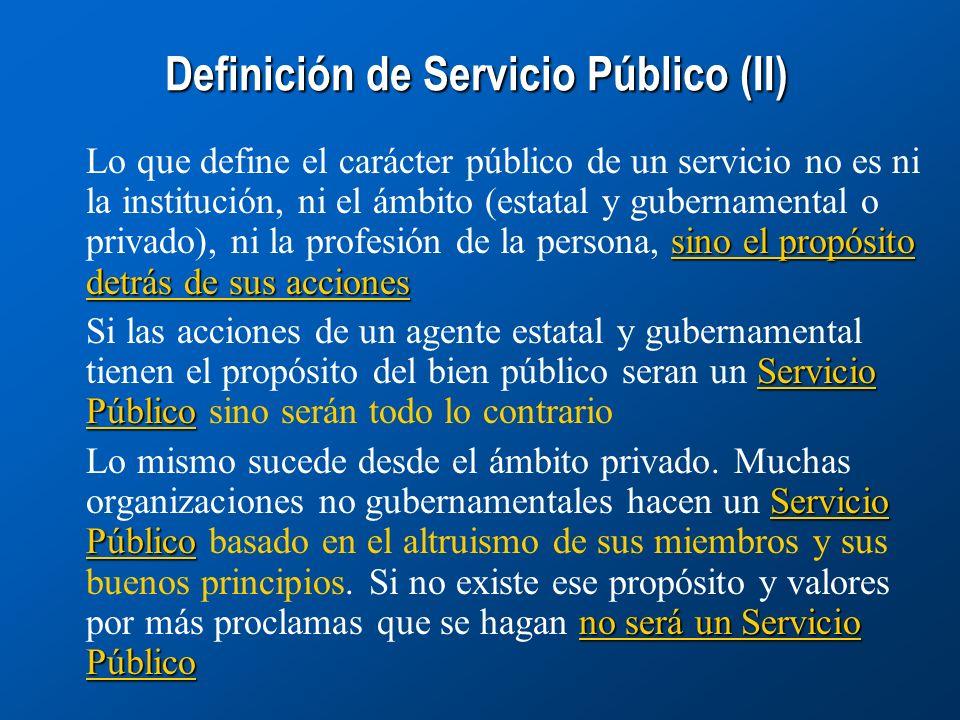 Definición de Servicio Público (II)