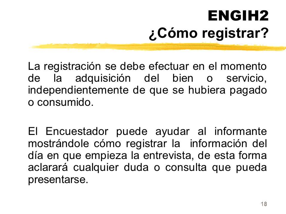 ENGIH2 ¿Cómo registrar