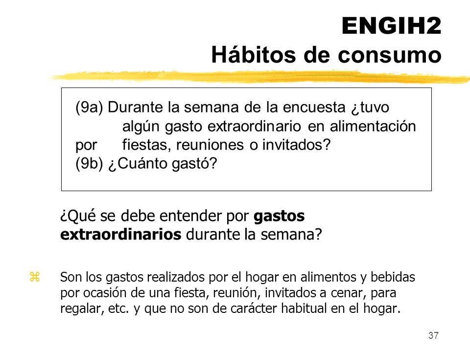 ENGIH2 Hábitos de consumo