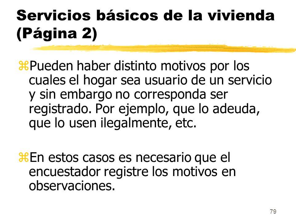 Servicios básicos de la vivienda (Página 2)