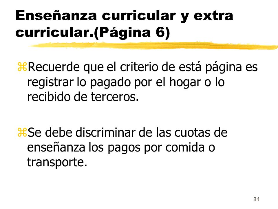 Enseñanza curricular y extra curricular.(Página 6)