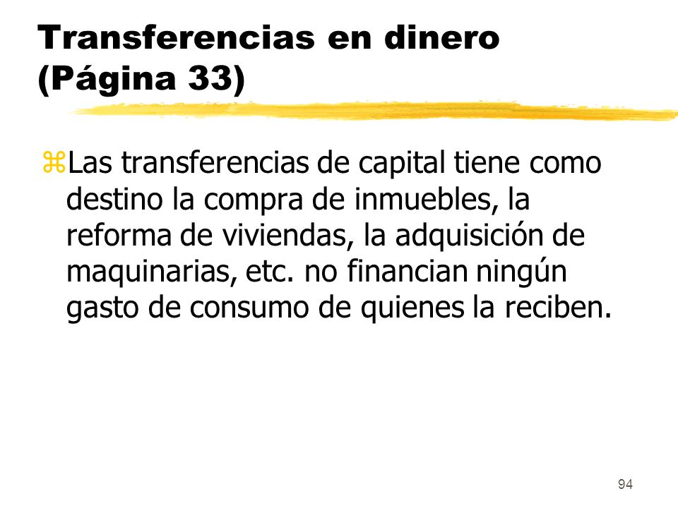 Transferencias en dinero (Página 33)