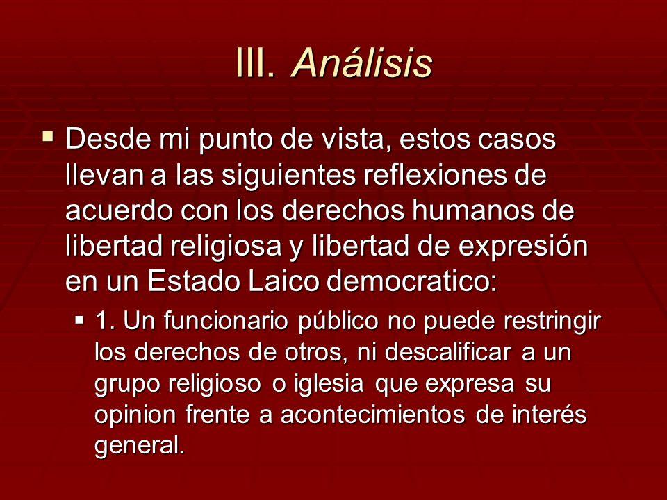 III. Análisis