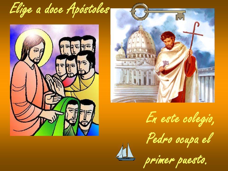 Elige a doce Apóstoles En este colegio, Pedro ocupa el primer puesto.