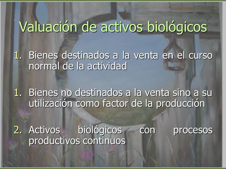 Valuación de activos biológicos