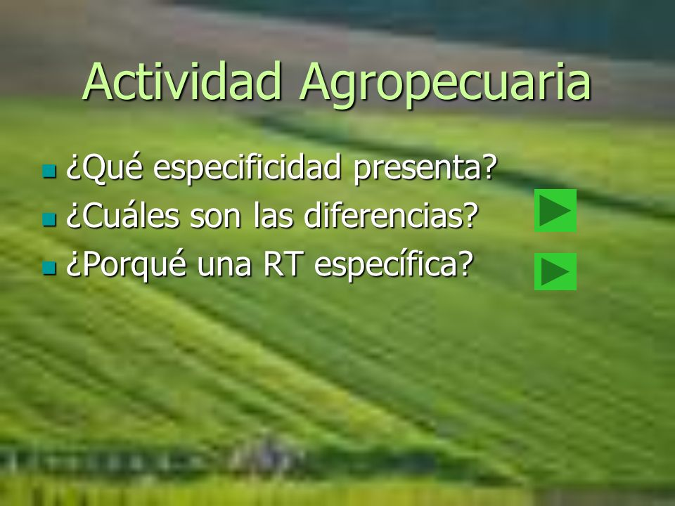 Actividad Agropecuaria