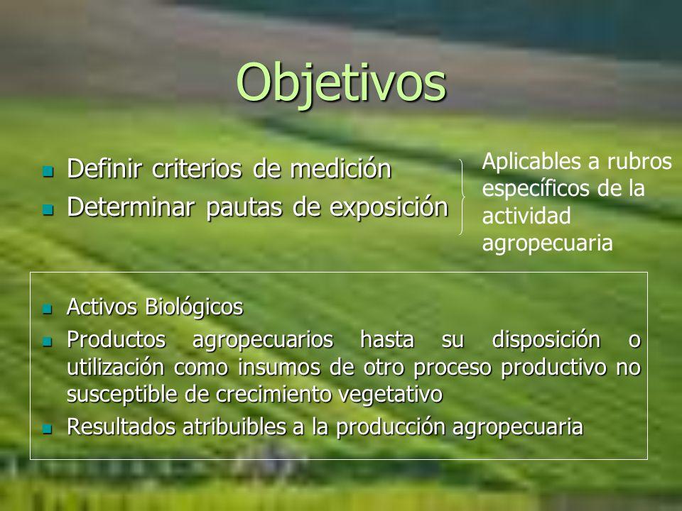 Objetivos Definir criterios de medición