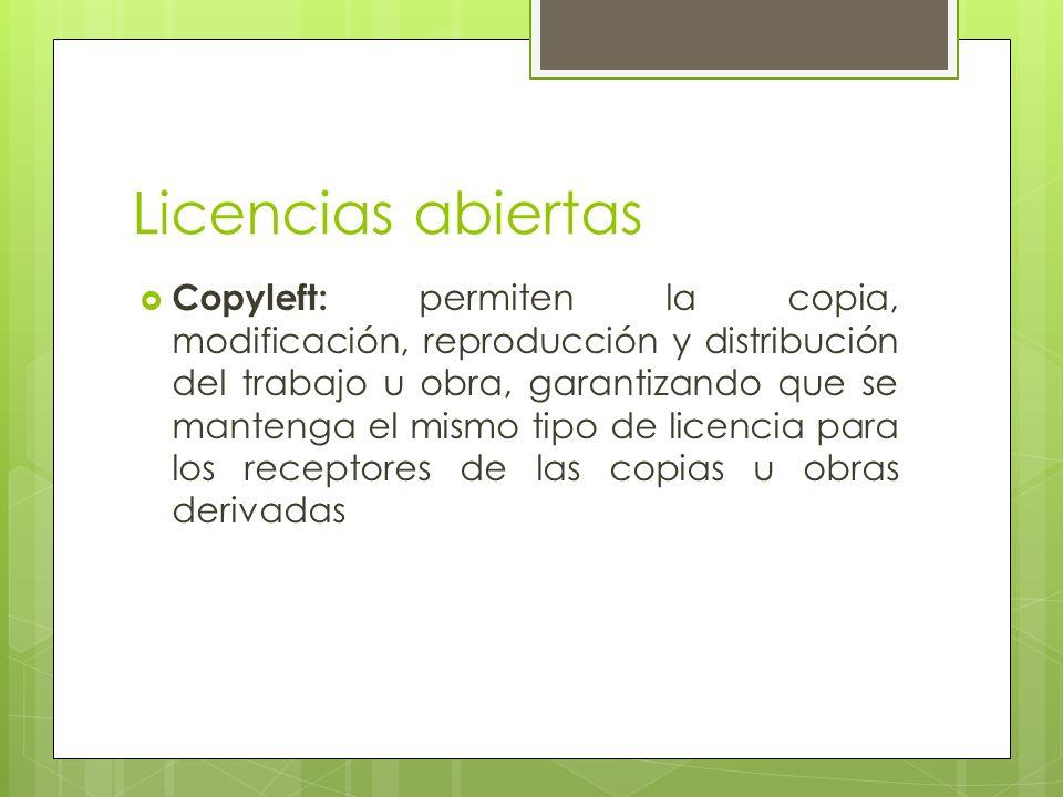 Licencias abiertas