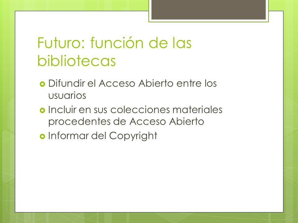 Futuro: función de las bibliotecas