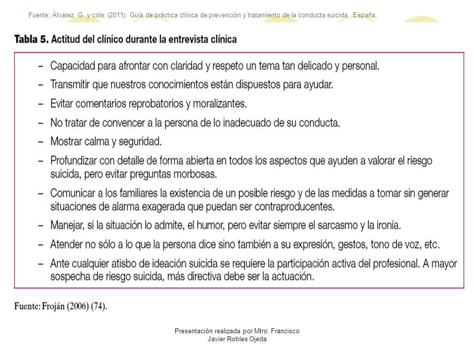 Presentación realizada por Mtro. Francisco Javier Robles Ojeda