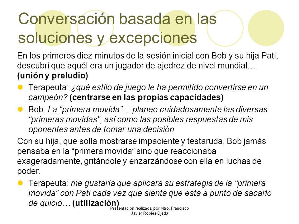 Conversación basada en las soluciones y excepciones