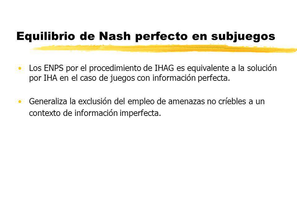 Equilibrio de Nash perfecto en subjuegos