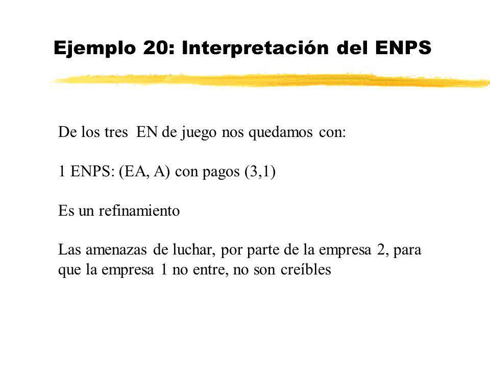 Ejemplo 20: Interpretación del ENPS