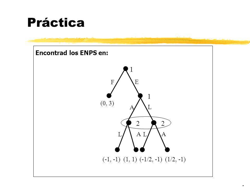 Práctica           . 1 1 2 2 Encontrad los ENPS en: F E A L