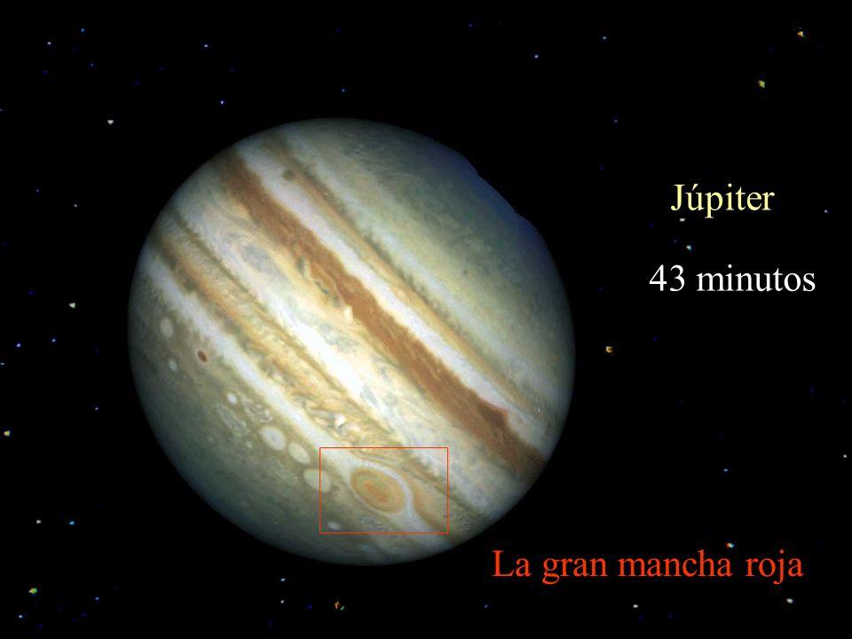 Júpiter 43 minutos La gran mancha roja