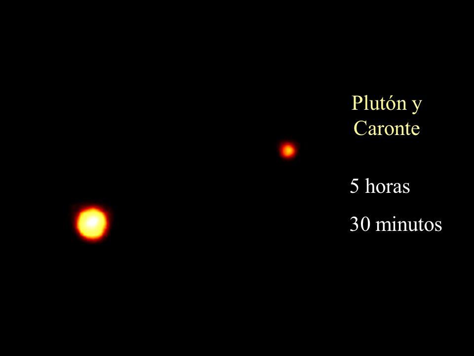 Plutón y Caronte 5 horas 30 minutos