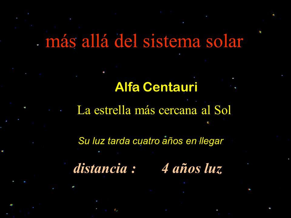 más allá del sistema solar