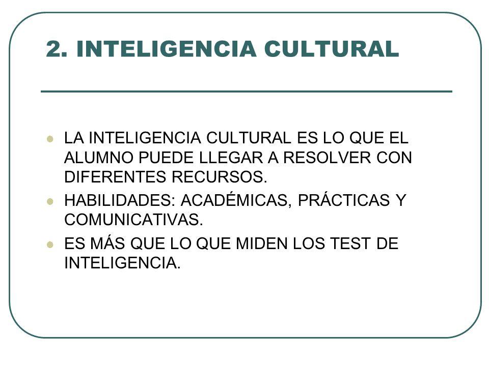 2. INTELIGENCIA CULTURAL