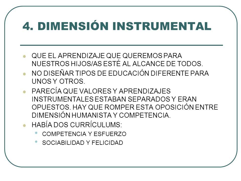 4. DIMENSIÓN INSTRUMENTAL