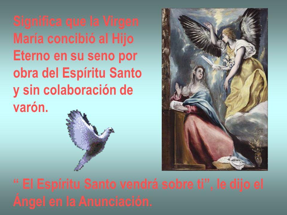 Significa que la Virgen