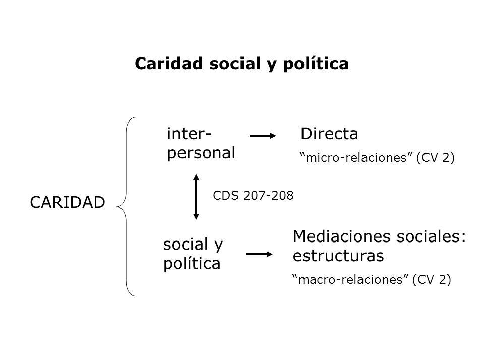 Caridad social y política