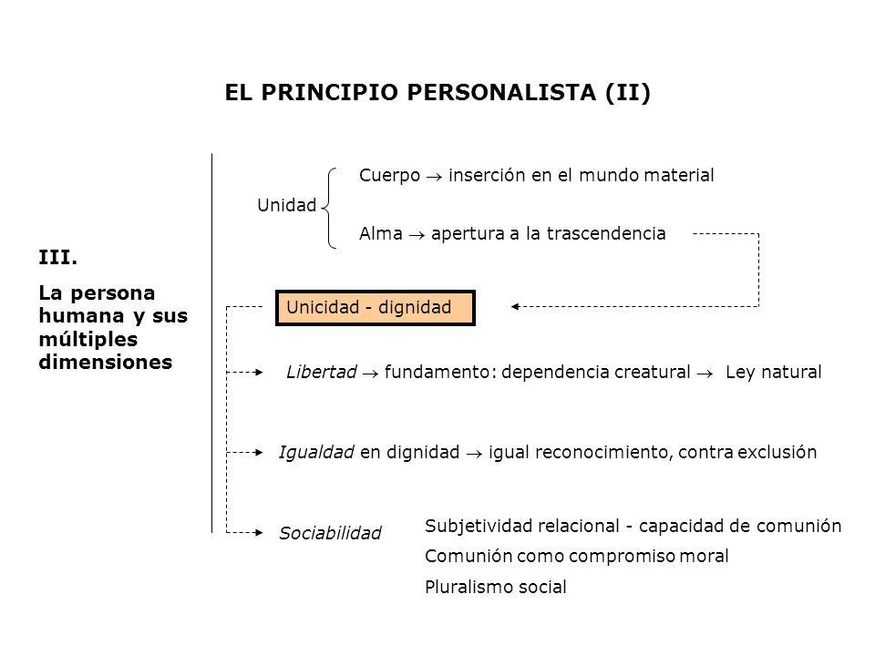 EL PRINCIPIO PERSONALISTA (II)