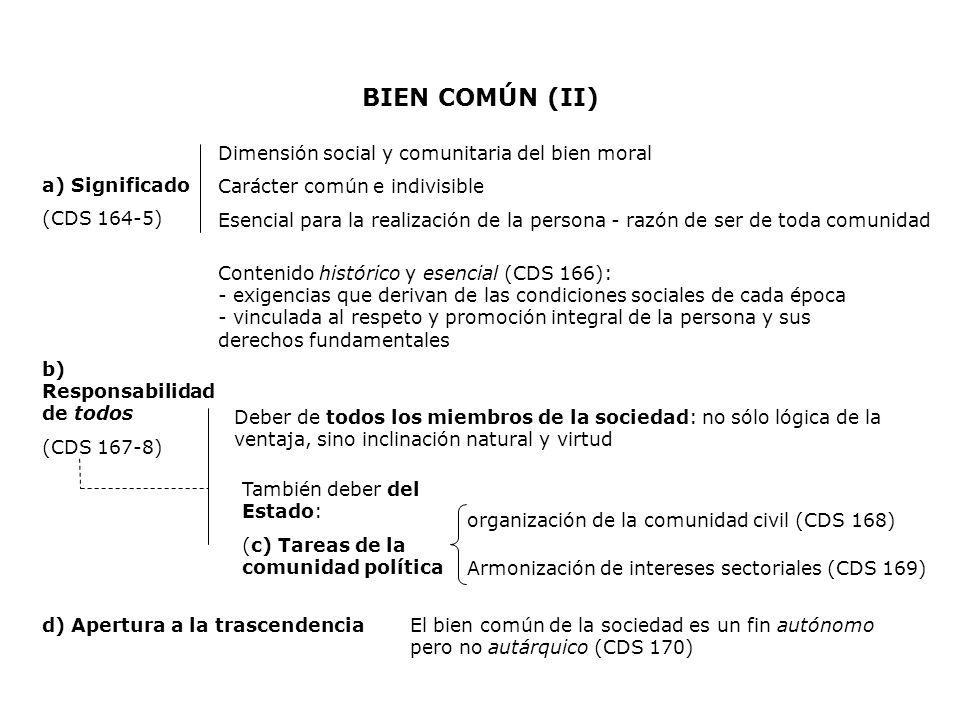 BIEN COMÚN (II) Dimensión social y comunitaria del bien moral