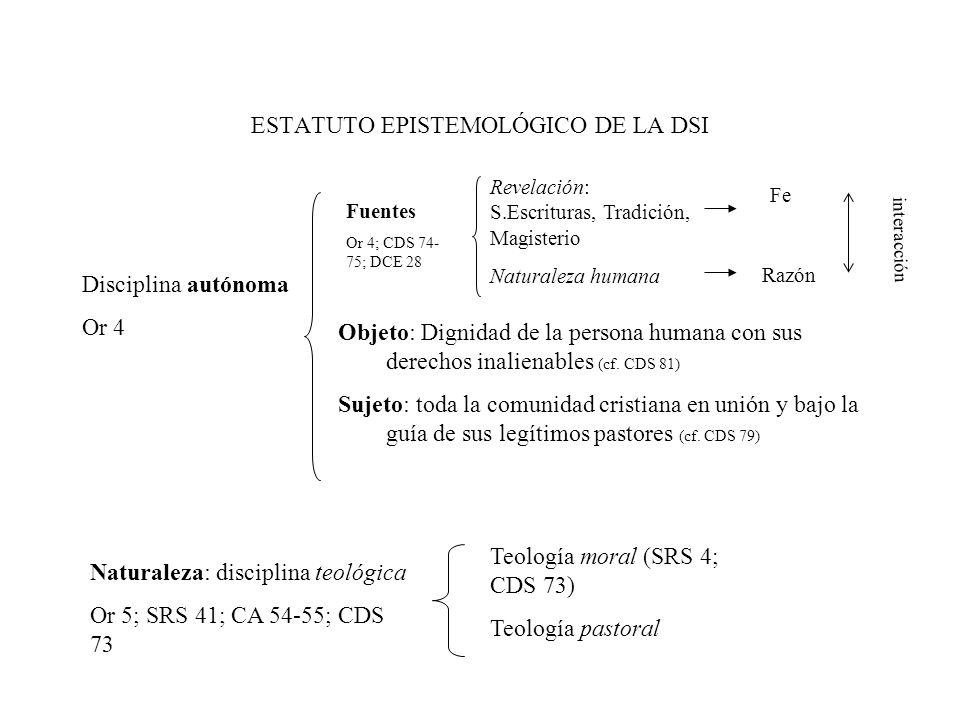 ESTATUTO EPISTEMOLÓGICO DE LA DSI