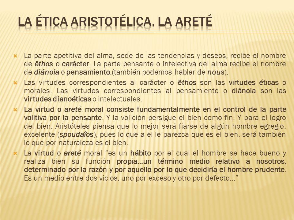 La ética aristotélica. La areté