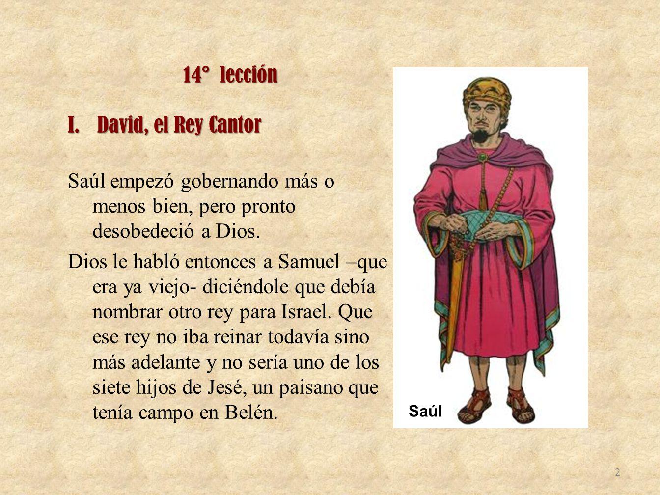 14° lección David, el Rey Cantor