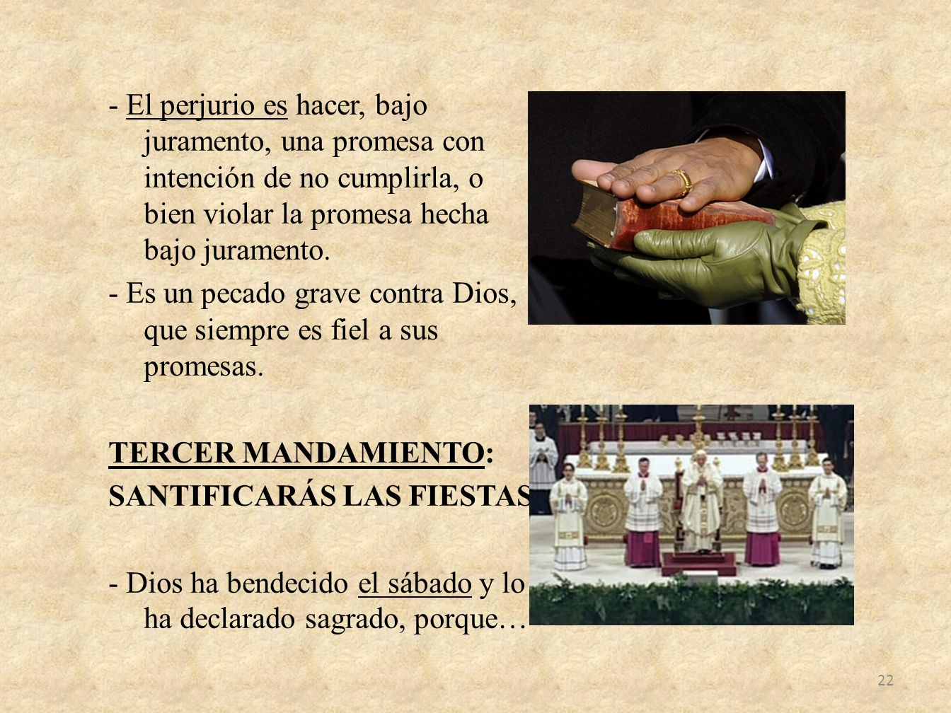 - El perjurio es hacer, bajo juramento, una promesa con intención de no cumplirla, o bien violar la promesa hecha bajo juramento.