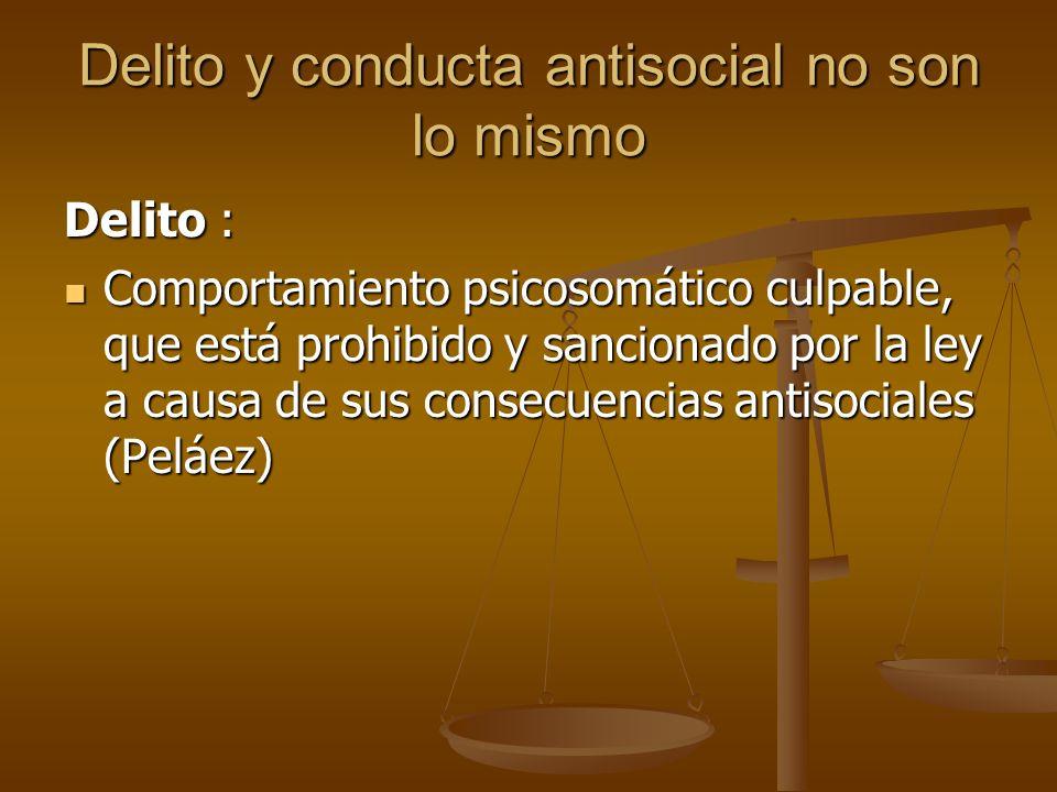 Delito y conducta antisocial no son lo mismo